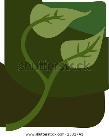 Ivy drawing for garden and nature themes - stock vector