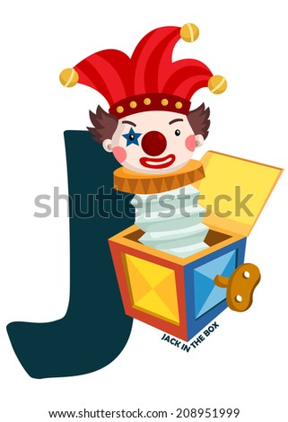 J For Jack In The Box - stock vector
