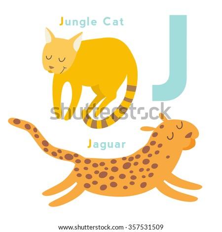 l letter animals set english alphabet stock vector 357531461