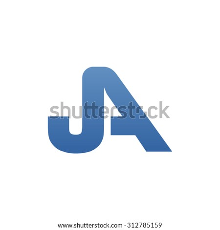 JA letter icon logo connected - stock vector