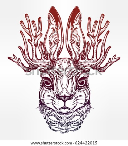 antelope tattoo stock images royalty free images vectors shutterstock. Black Bedroom Furniture Sets. Home Design Ideas