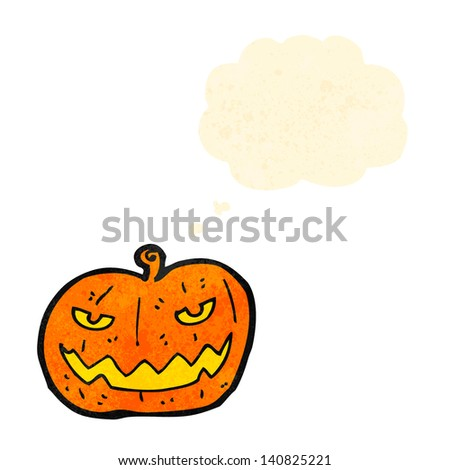 jack o lantern cartoon - stock vector