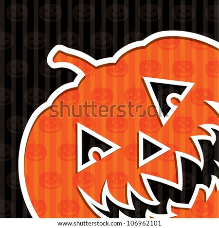 "Jack o' Lantern ""Happy Halloween"" card in vector format. - stock vector"
