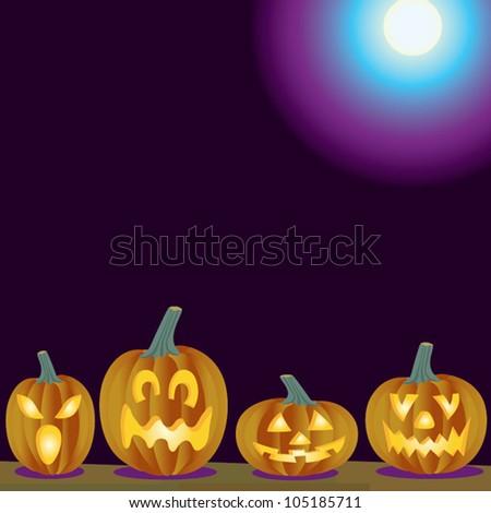 jack o lanterns - stock vector