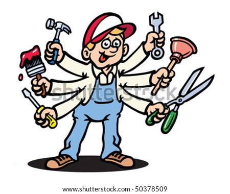 Jack of all trades. - stock vector