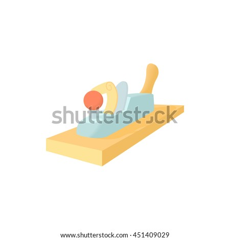 Jack plane icon in cartoon style on a white background - stock vector