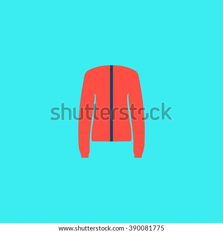 Jacket. Flat simple modern illustration pictogram. Collection concept icon for infographic project and logo - stock vector