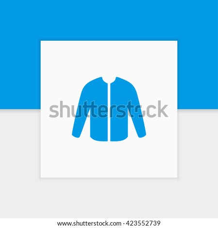 Jacket icon illustration isolated vector sign symbol - stock vector