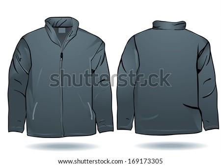 Jacket Template Stock Vector