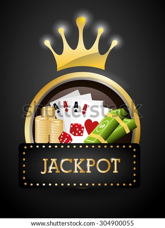 Jackpot digital design, vector illustration 10 eps graphic