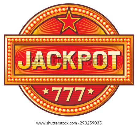 jackpot sign (jackpot label) - stock vector