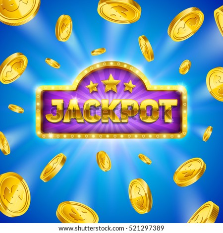 Jackpot winner background. Eps10 vector illustration.