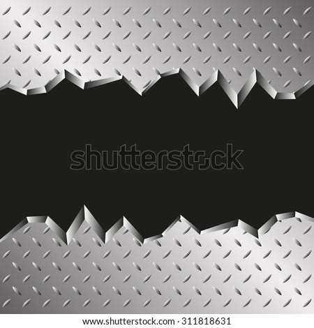 jagged metallic background - stock vector