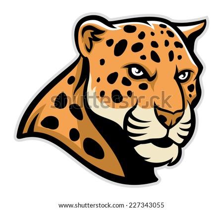 jaguar head mascot - stock vector