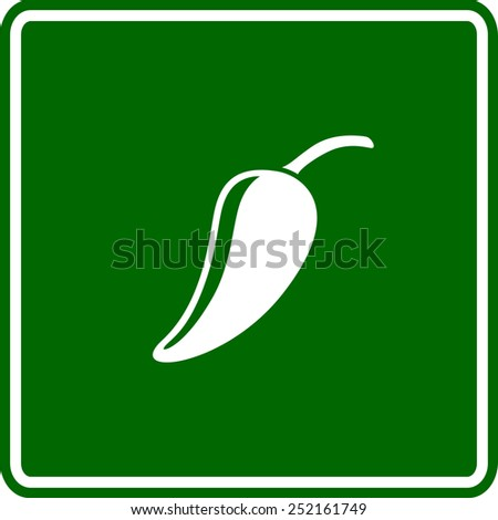 jalapeno pepper sign - stock vector