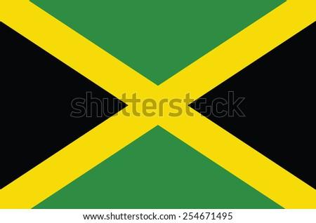 Jamaica Flag - stock vector