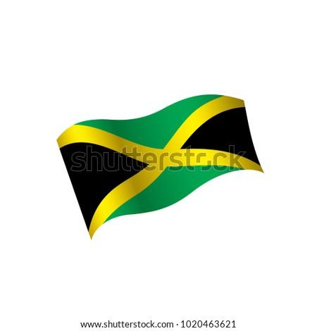 Jamaica Flag Vector Illustration Vectores En Stock 1020463621 ...