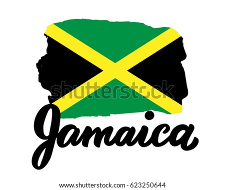 Jamaica Hand Drawn Ink Brush Lettering Stock Vector Royalty Free