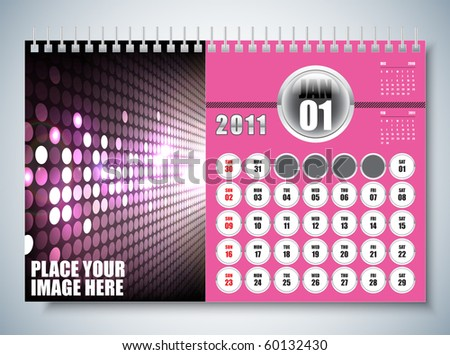 January - Calendar Design 2011 - stock vector