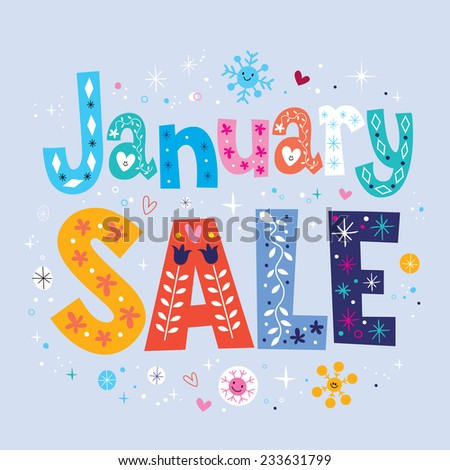 January sale - stock vector