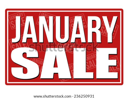 January sale sign, vector illustration - stock vector