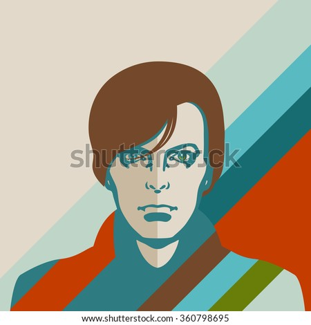 JANUARY 11, 2016: Vector Illustration of David Bowie, eps10 - stock vector