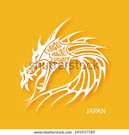 Japan dragon sign for your business presentation - stock vector