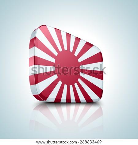 Japan Naval button - stock vector