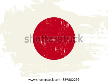 Japan scratched Flag. A japanese flag with a grunge texture - stock vector