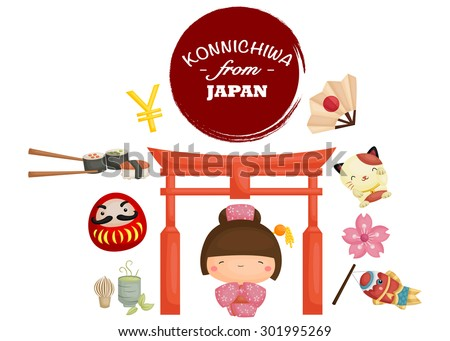 Japan Tradition  - stock vector