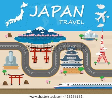 japan travel brochure template - japan train stock images royalty free images vectors