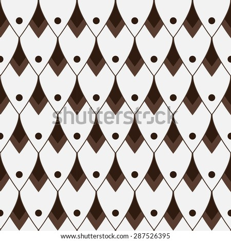 japan wave pattern.Geometric stylish background. Vector repeating texture. - stock vector