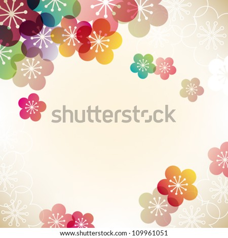 japanese apricot background - stock vector