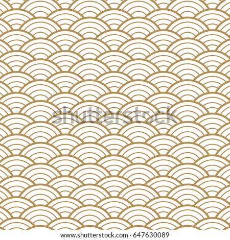 Japanese Gold background and pattern. The exquisitely delicate side of traditional woodwork style-rooms to create a stunning atmosphere. water curve texture.
