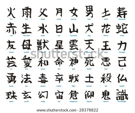 Japanese+alphabet on Write Chinese Characters Fish