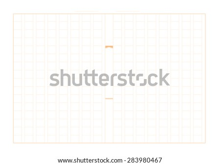 Japanese Manuscript Paper Grid Called Genko Stock Vector   Japanese Manuscript Paper Grid Called Genko Yoshi Is A Type Of Manuscript  Paper Format