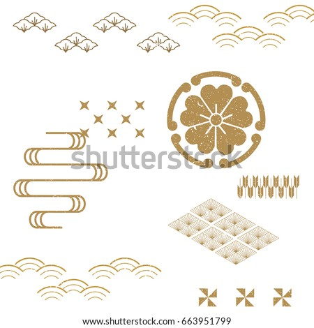 Japanese Pattern vector background. Classic icon from Japan.