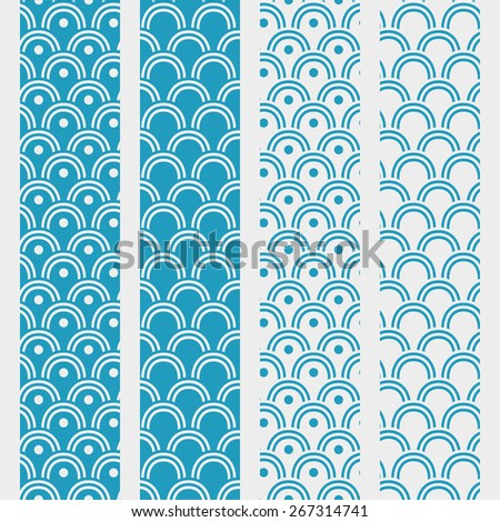 Japanese seamless wave pattern - stock vector