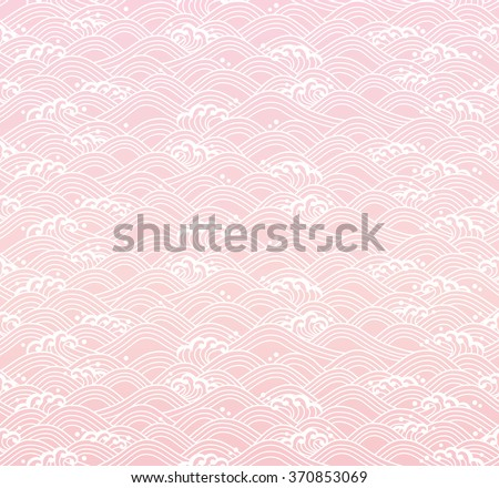 Japanese seamless waves.  - stock vector