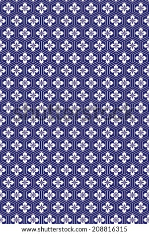 Japanese traditional pattern - stock vector