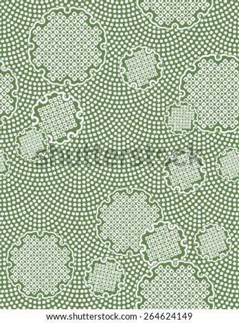 Japanese traditional pattern - snow scene - stock vector