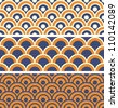 Japanese Wave Seamless Pattern - stock vector