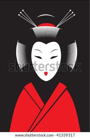 Japanese woman - stock vector