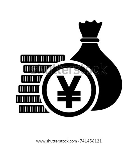 Japanese Yen Money Bag Coins Jpy Stock Vector Hd Royalty Free