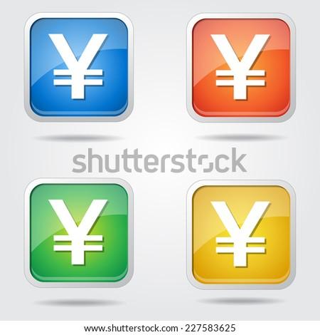Japanese Yen Sign Vector Icon Design - stock vector