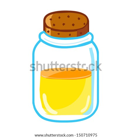 jar with honey isolated illustration on white background - stock vector