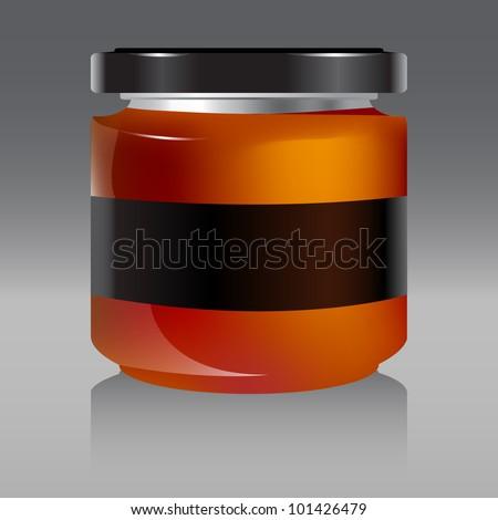 jar with honey vector illustration 1 - stock vector