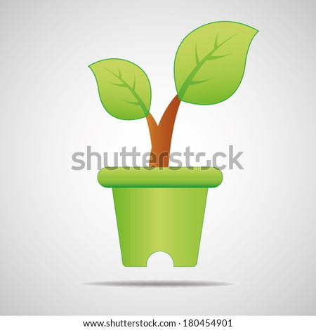 Jardiniere. Go green. Save world - stock vector