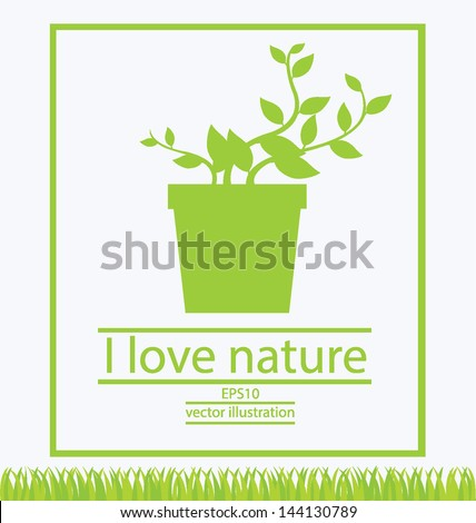 Jardiniere. Go green. Save world. vector illustration. - stock vector