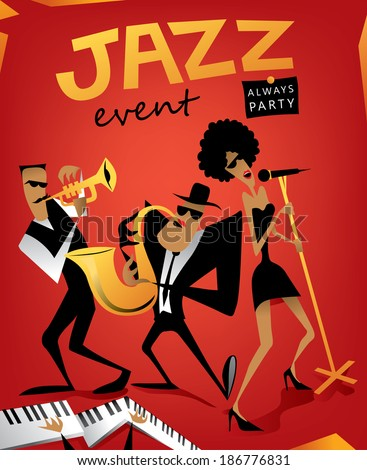 Jazz band, music event (vector Art) - stock vector